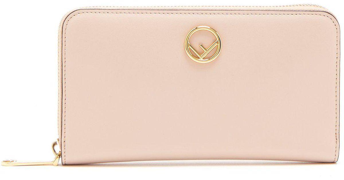 Logo-embellished continental leather wallet Fendi 9WI3f2l