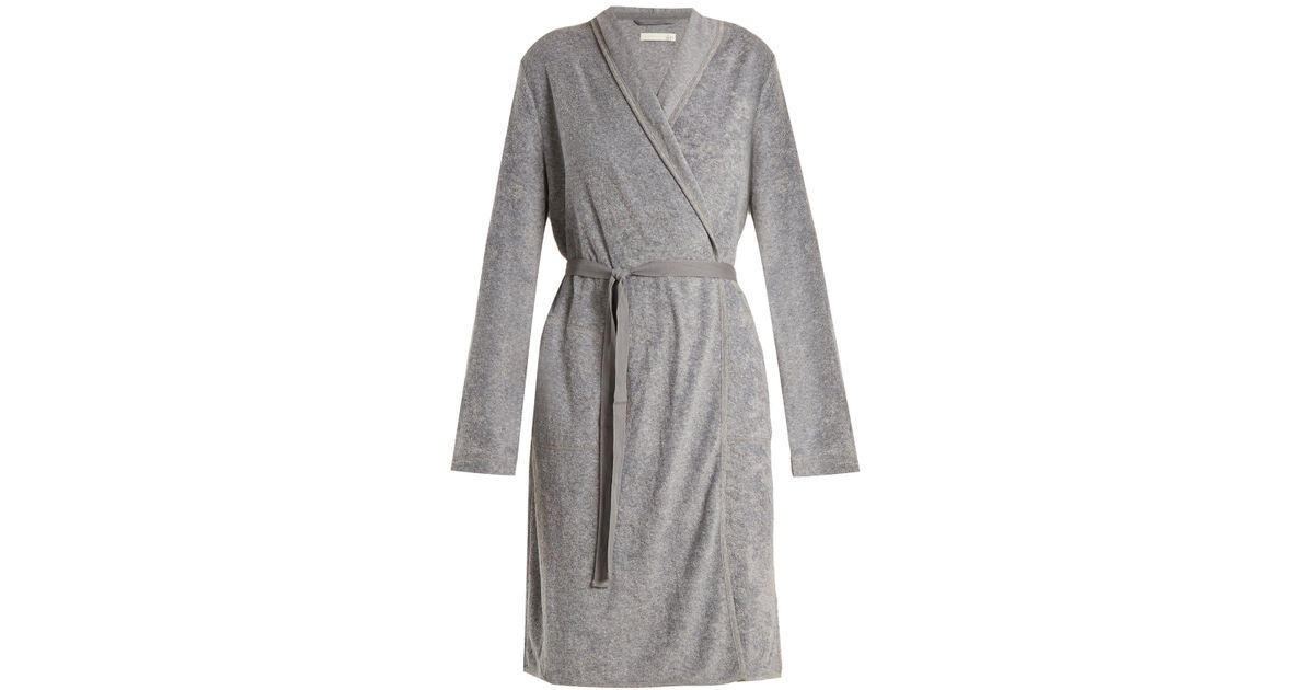 Skin - Gray French Terry-towelling Robe - Lyst 5d57a4dd9