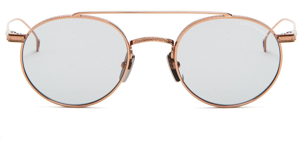 adfb56a5a28 Dita Eyewear Journey Round Frame Sunglasses in Metallic for Men - Lyst