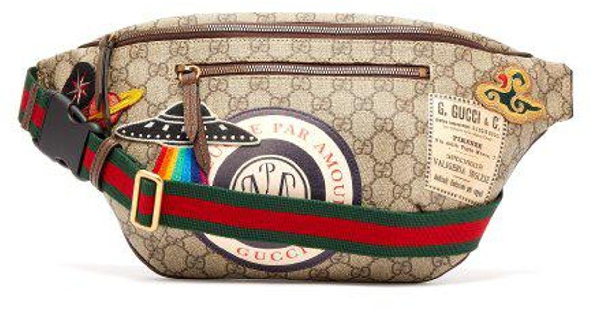1d9c823f10d32 Lyst - Gucci Courrier Gg Supreme Belt Bag in Brown for Men
