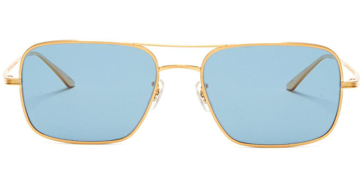 8154063844ccd The Row X Oliver Peoples Victory La Sunglasses in Metallic - Lyst