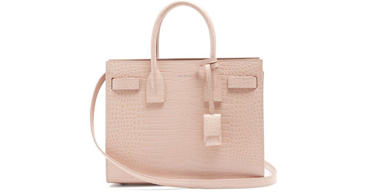 3eb577fd2212 Saint Laurent Sac De Jour Baby Leather Cross-body Bag in Pink - Lyst