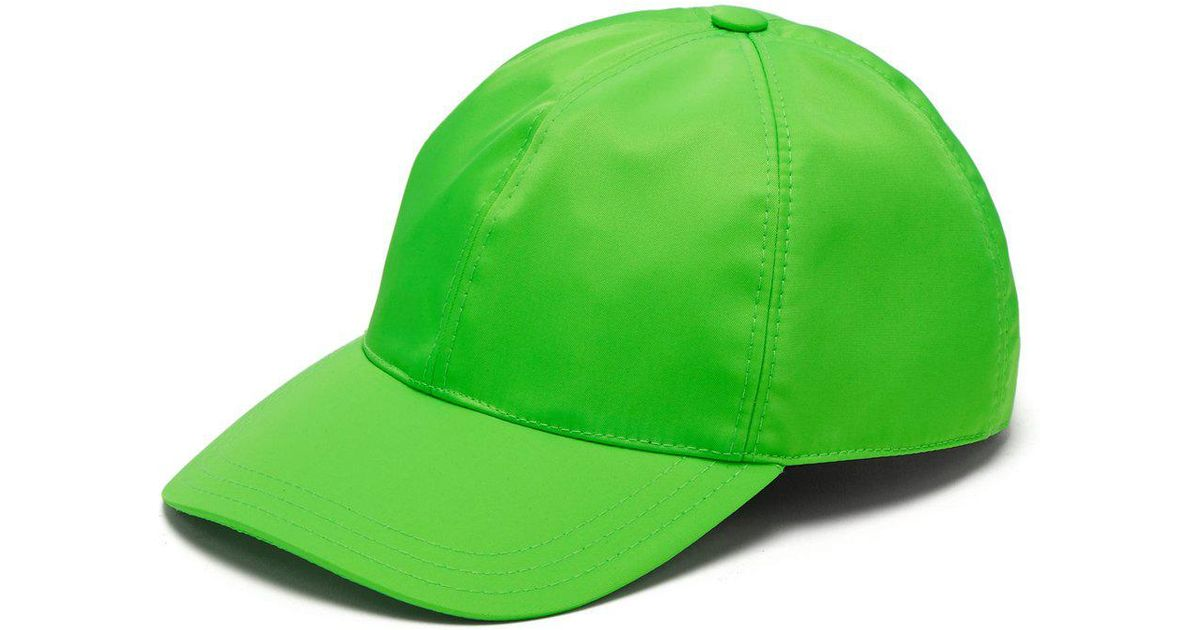 Lyst - Prada Logo Plaque Baseball Cap in Green for Men 7c22156125d2