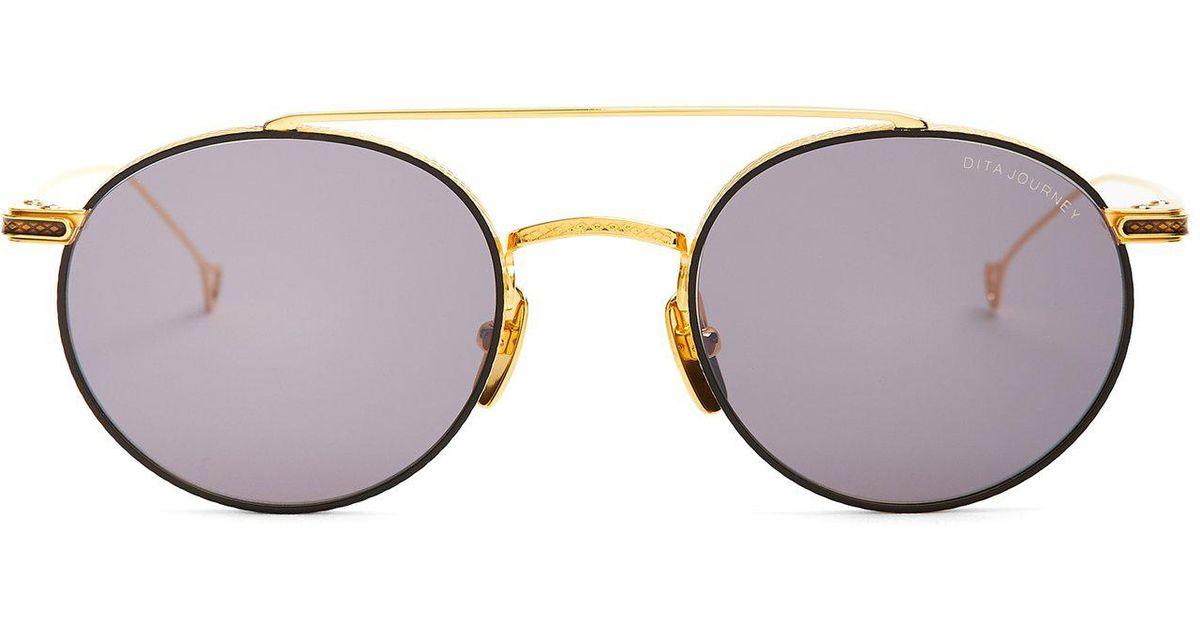 1843ee20335 Lyst - Dita Eyewear Journey Round-frame Metal Sunglasses in Black for Men