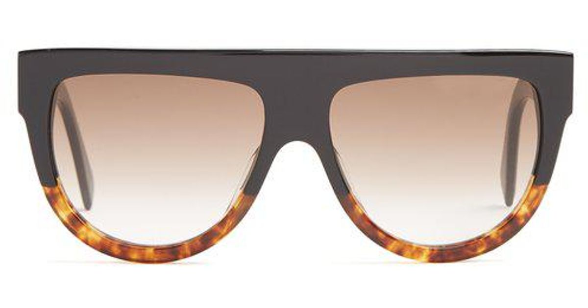 7a10213b2f Céline Shadow D-frame Acetate Glasses in Brown - Lyst