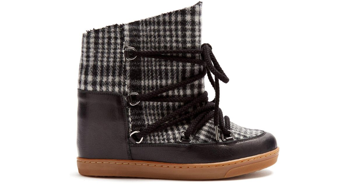 fd944c5561 Lyst - Isabel Marant Nowles Shearling-lined Aprés-ski Boots in Gray