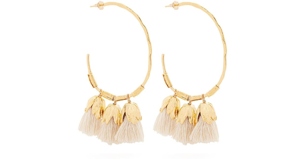 Elise Tsikis Paris Havane tassel-drop gold-plated earrings DmIEUM