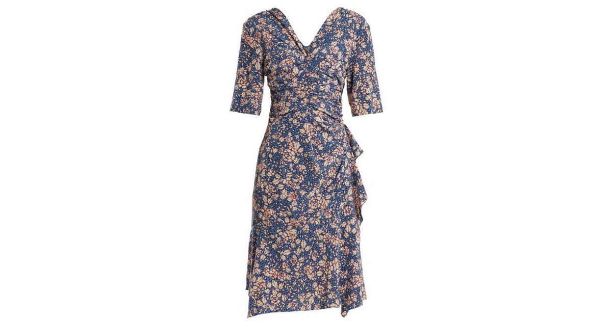 23ccf1e18b Isabel Marant Brodie Floral-print Zip-through Dress in Blue - Lyst