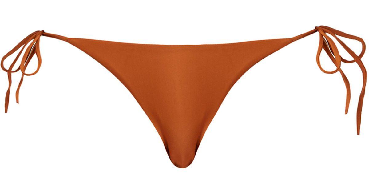 d6c1ae6007a0 Matteau The String Bikini Briefs in Orange - Lyst