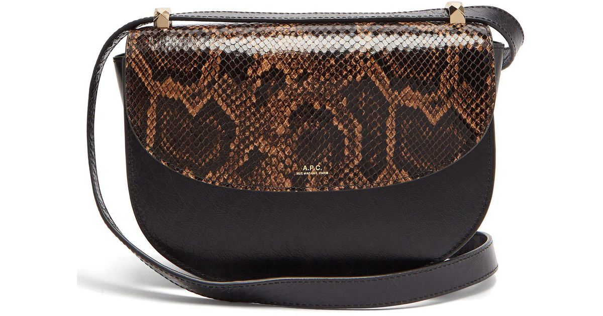 e910d3598d Lyst - A.P.C. Genève Leather Cross Body Bag in Black - Save 22%