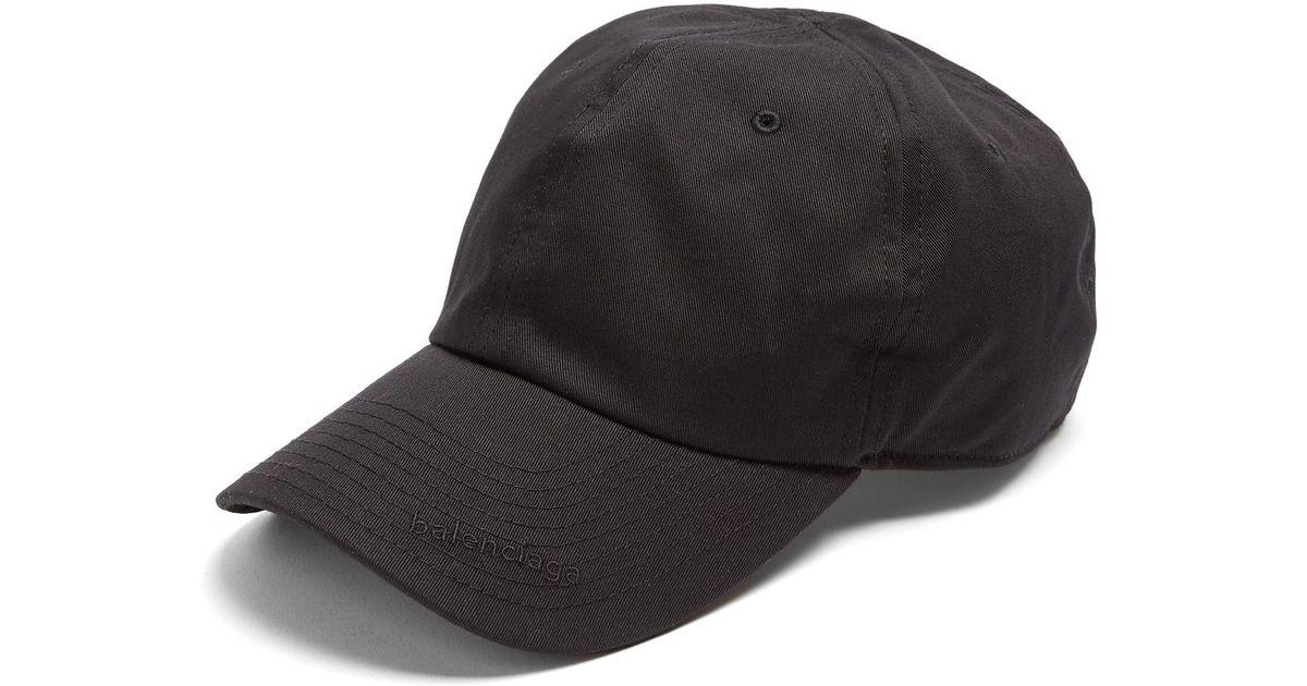 b00e2a313991a Balenciaga Logo-embroidered Cap in Black - Lyst