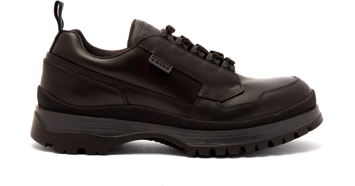 3a172bf9ed77f Lyst Lyst Compensée Compensée Compensée Chaussures Prada Semelle Cuir Pour  En À Homme RfvxRz