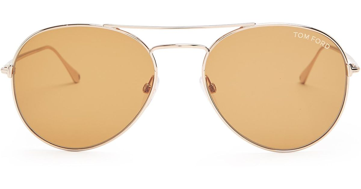 c9c54dbb20c Lyst - Tom Ford Ace 2 Aviator Sunglasses in Brown for Men