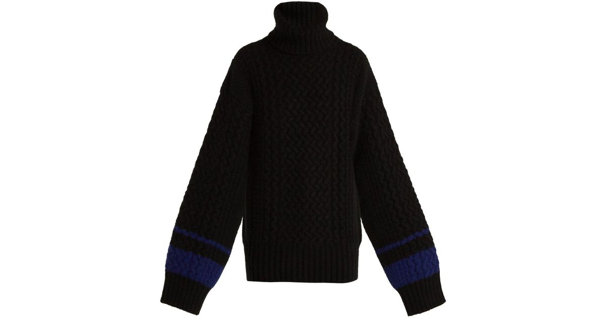 e2df762a0e Lyst - Haider Ackermann Cashmere And Angora Blend Roll Neck Sweater in Black