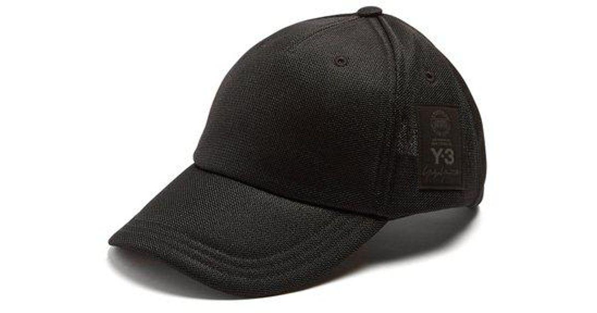 Y-3 Logo-debossed Mesh Cap in Black for Men - Save 30.769230769230774% -  Lyst eb474b21d395