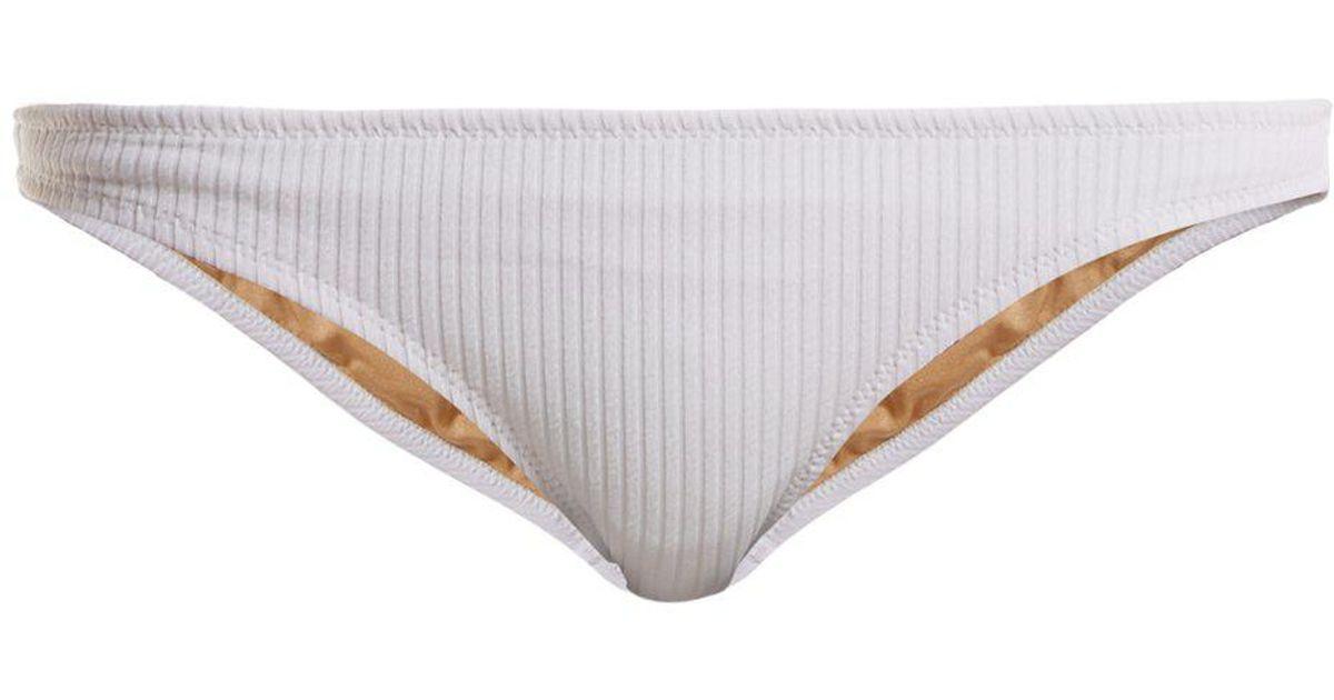 ba247efd2cbdd Lyst - Made By Dawn Coral Ribbed Bikini Briefs in White