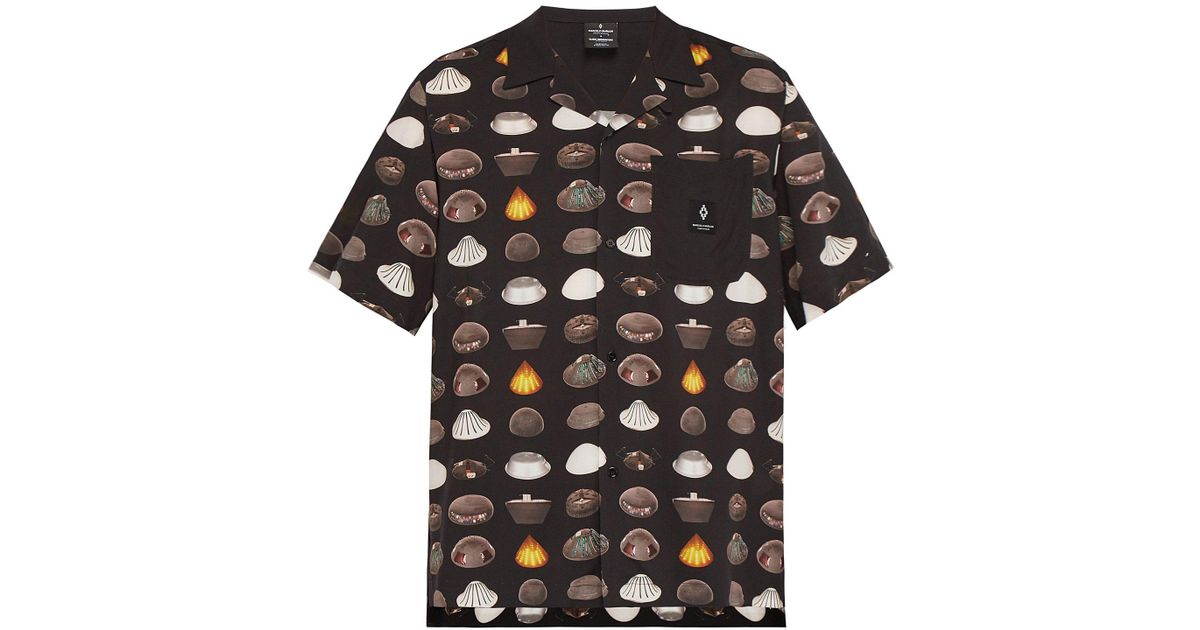 8f4a3f629cb Lyst - Marcelo Burlon Spaceship Print Jersey Shirt in Black for Men