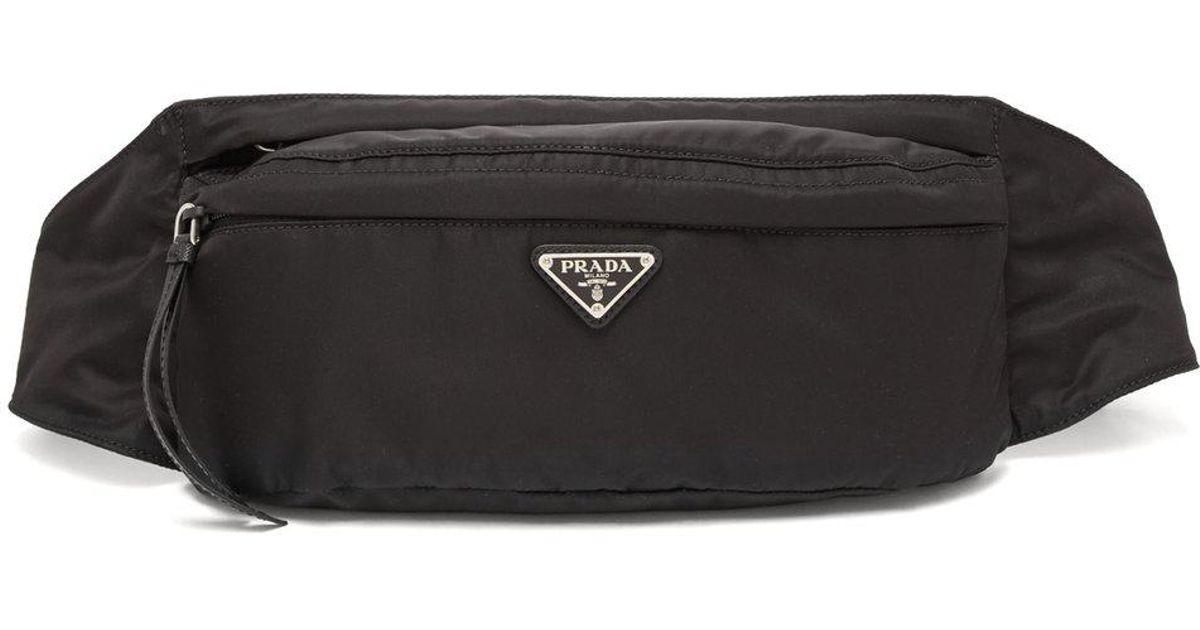 35d70585bba9 Lyst - Prada New Vela Nylon Belt Bag in Black for Men