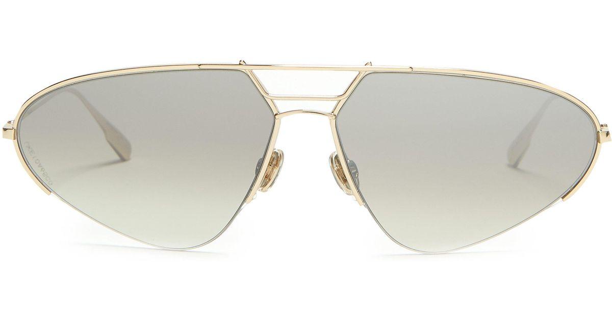 cdc762a26b2e Dior Diorstellaire5 Aviator Sunglasses in Metallic - Lyst
