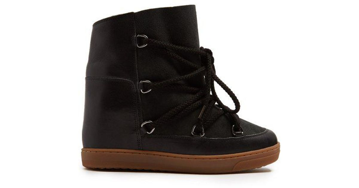 3c730e07d5 Lyst - Isabel Marant Nowles Shearling-lined Aprés-ski Boots in Black