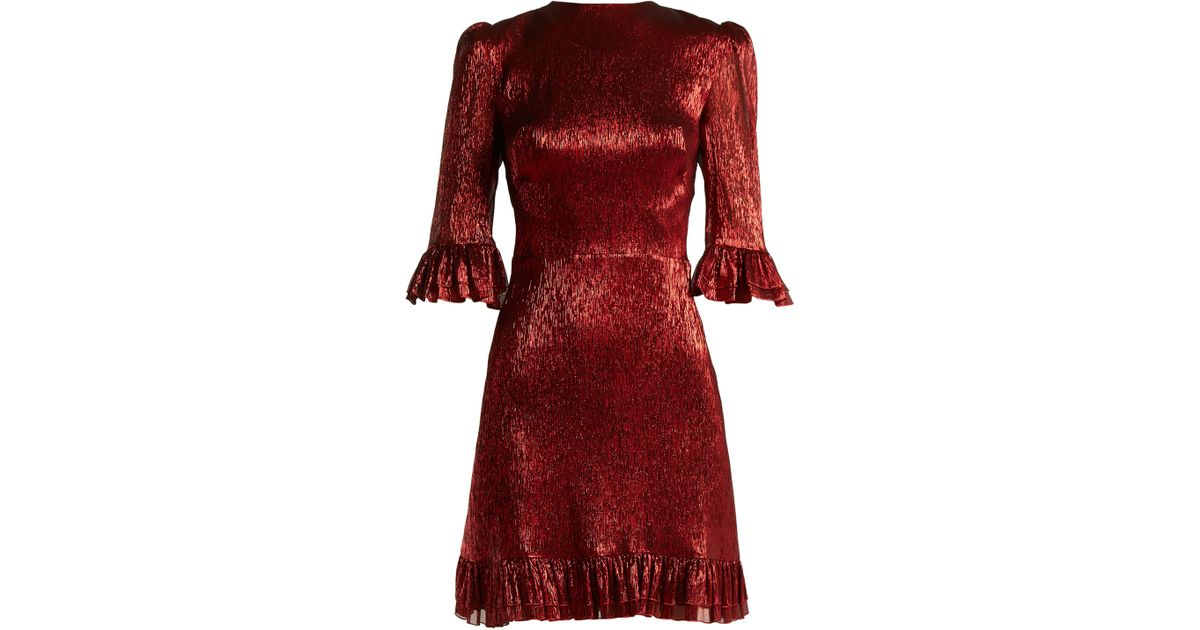 e50c113c252f the-vampires-wife-designer-red-Festival-Ruffle-Trimmed-Silk-Blend-Lame-Mini- Dress.jpeg