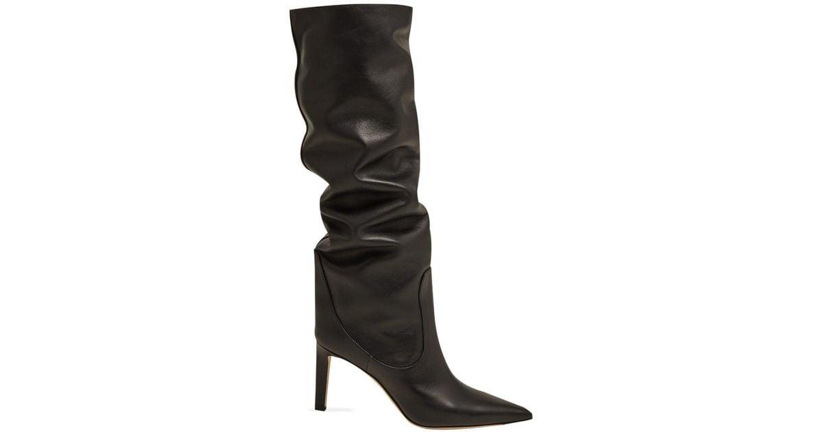 1c371f29187 Lyst - Jimmy Choo Mavis 85 Knee High Leather Boots in Black