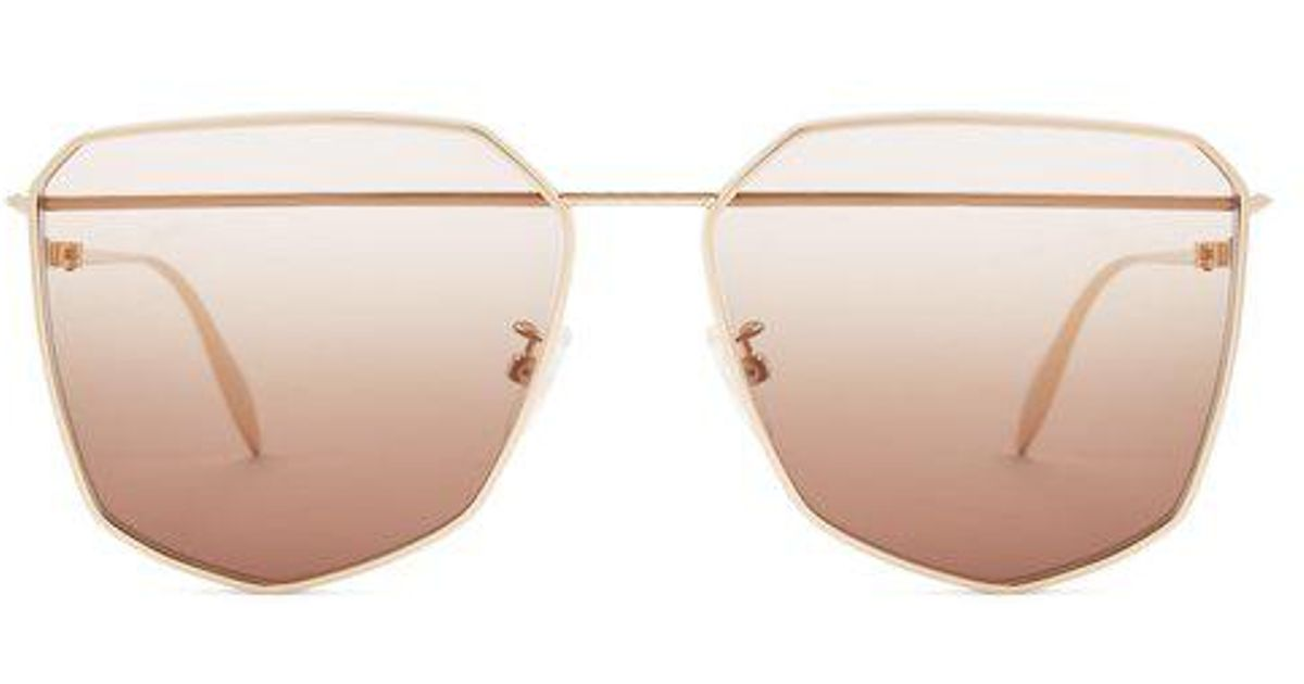 Angular-frame metal sunglasses Alexander McQueen BMAe1