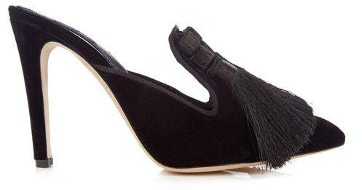 Looking For Garcia multi-tassel velvet mules Sanayi 313 Buy Newest Clearance Hot Sale Cheapest Sale Online efo9Gx