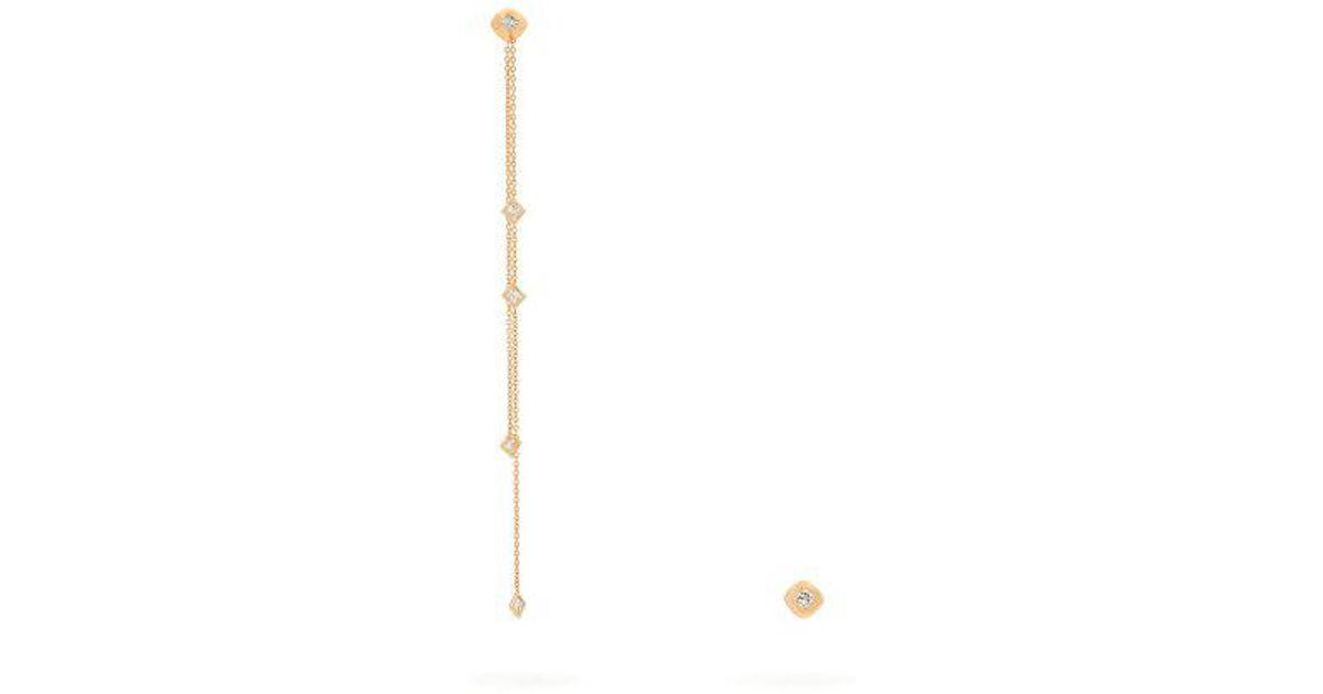 Diamond and rose-gold chain earrings Diane Kordas czz9xfZ