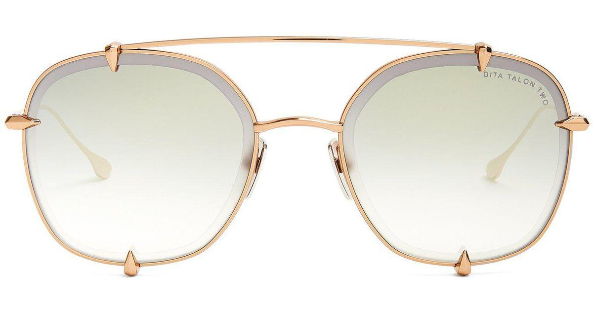 86d3f603587 Lyst - Dita Eyewear Talon Sunglasses in Metallic for Men