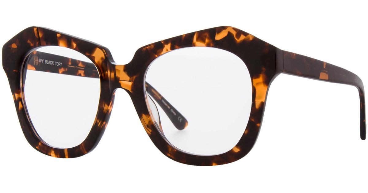 leon max black tortoise zyl clear lens frames in brown lyst - Zyl Frames