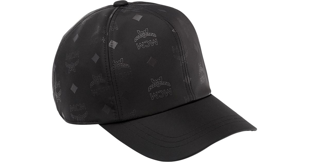 ... top quality lyst mcm classic cap in monogram nylon in black for men  7ffd7 c3a91 germany mcm bucket ... fcc4d9c00bbb