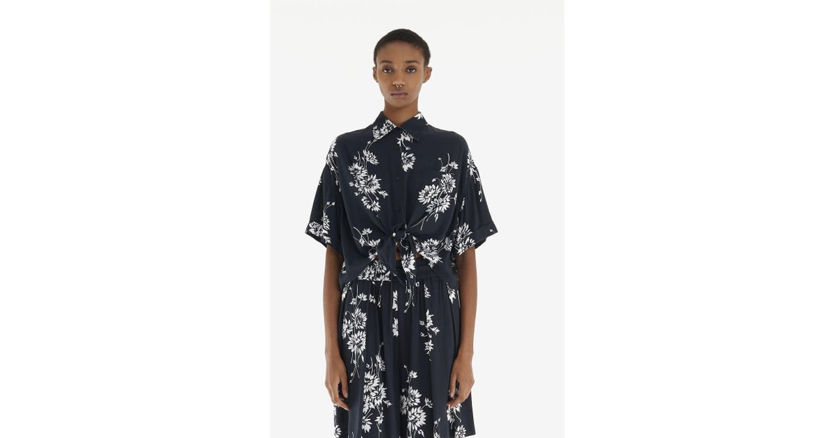 695a8abd895 Lyst - McQ Flaming Delilah Knot Shirt in Black