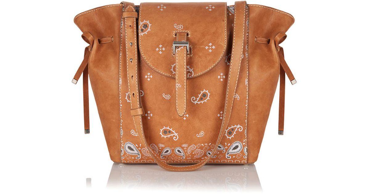 b4a66db4a1ba Lyst - meli melo Fleming Medium Tote Bag Light Tan Bandana in Brown