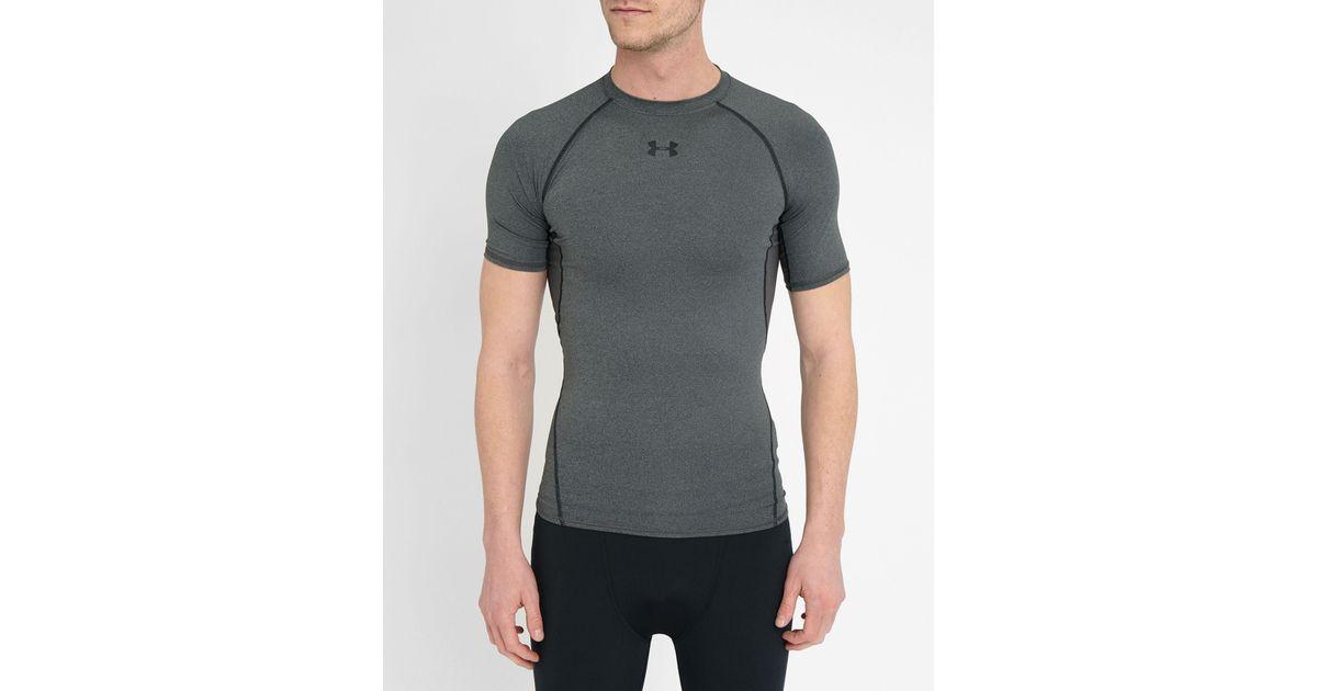 Under armour grey heatgear compression t shirt in gray for for Gray under armour shirt