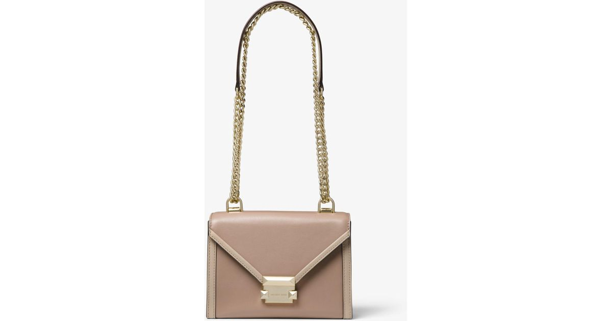 f7e189c5eb05 Michael Kors Whitney Small Two-tone Leather Convertible Shoulder Bag - Lyst
