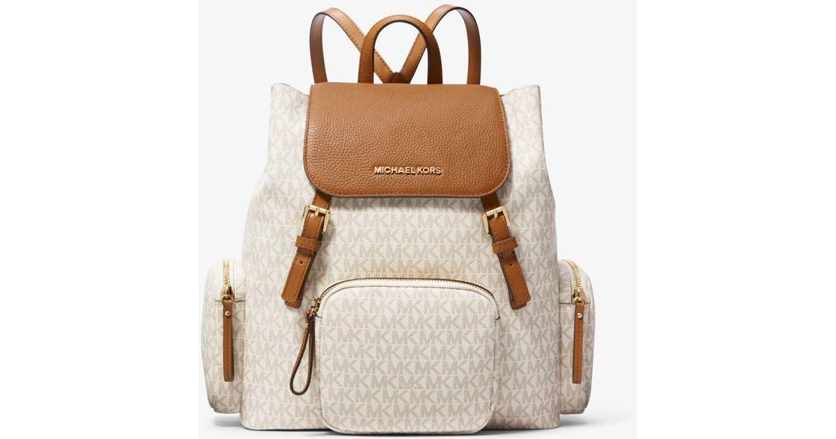 943466d16774a Lyst - Michael Kors Abbey Large Logo Cargo Backpack