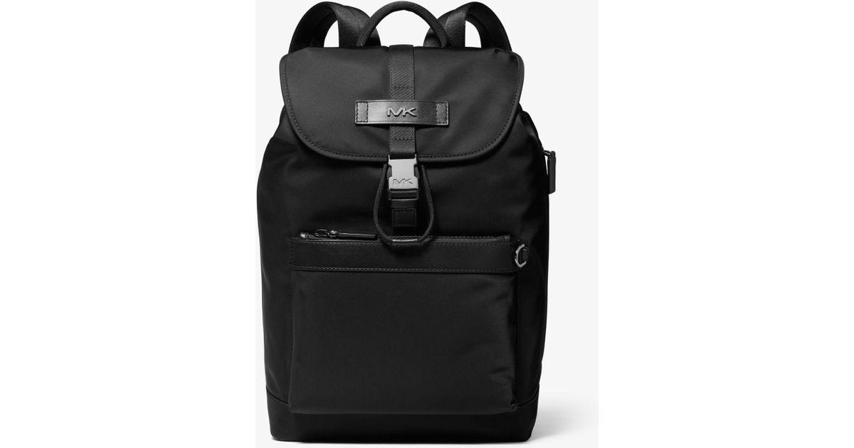 b2fcbff0a2cf Michael Kors Kent Gabardine Nylon Backpack in Black for Men - Lyst