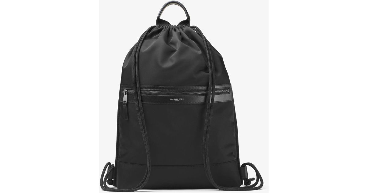 daea5565c61f Michael Kors Kent Nylon Drawstring Backpack in Black for Men - Lyst