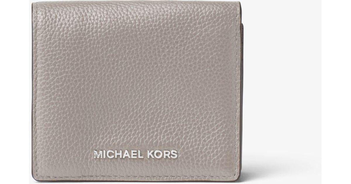 f576ec55674d Lyst - Michael Kors Mercer Leather Card Case in Gray