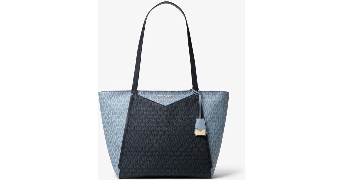 f3bea4e556e1 Lyst - Michael Kors Whitney Large Logo Tote Bag