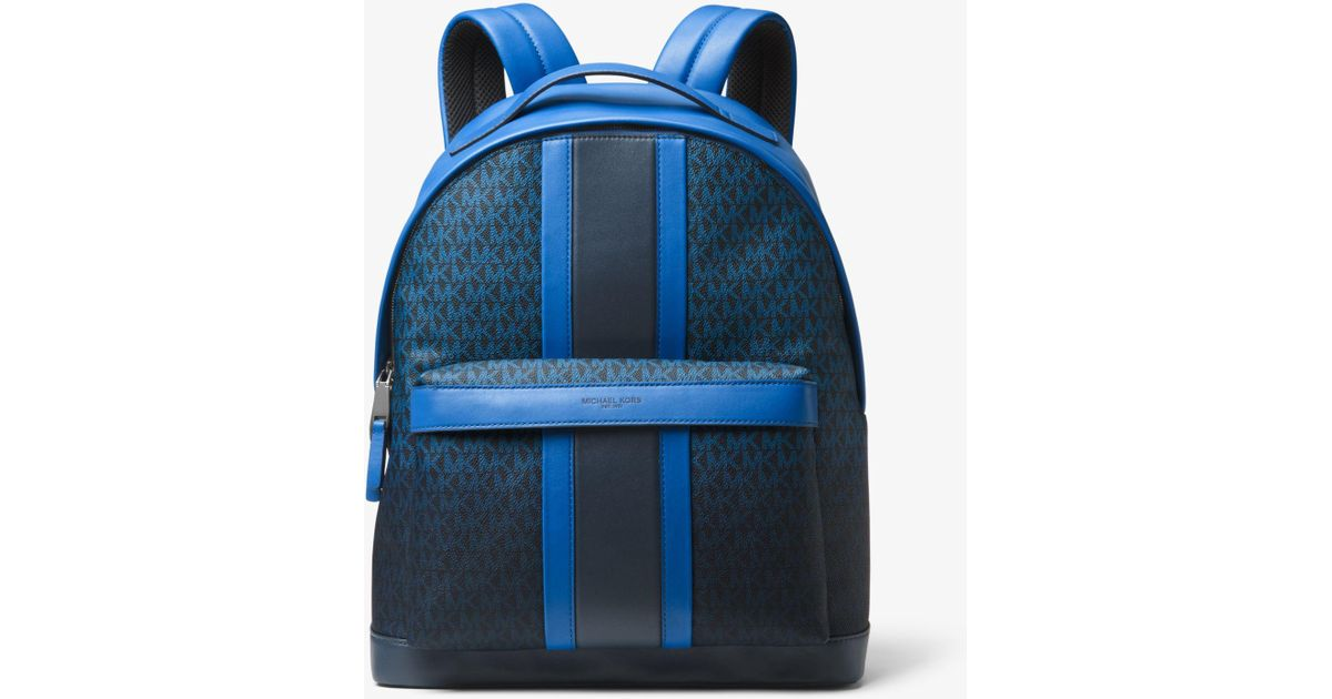 99c6e7d0529d Lyst - Michael Kors Odin Logo Stripe Backpack in Blue for Men