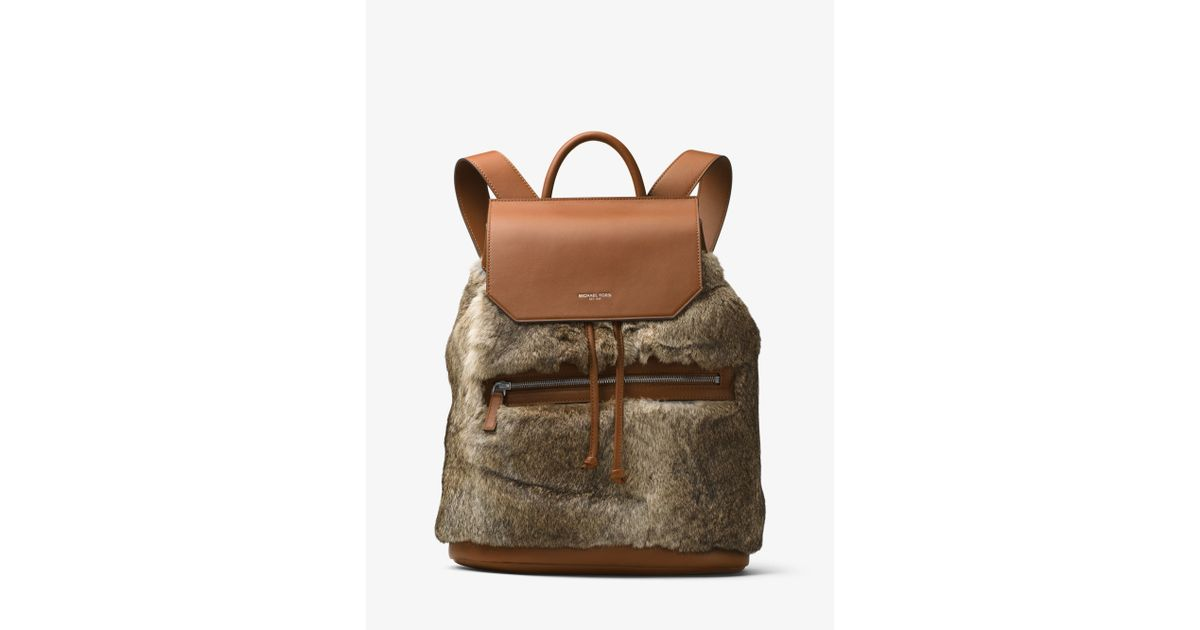 2a33128259c22 Lyst - Michael Kors Kirk Fur And Leather Backpack in Natural for Men