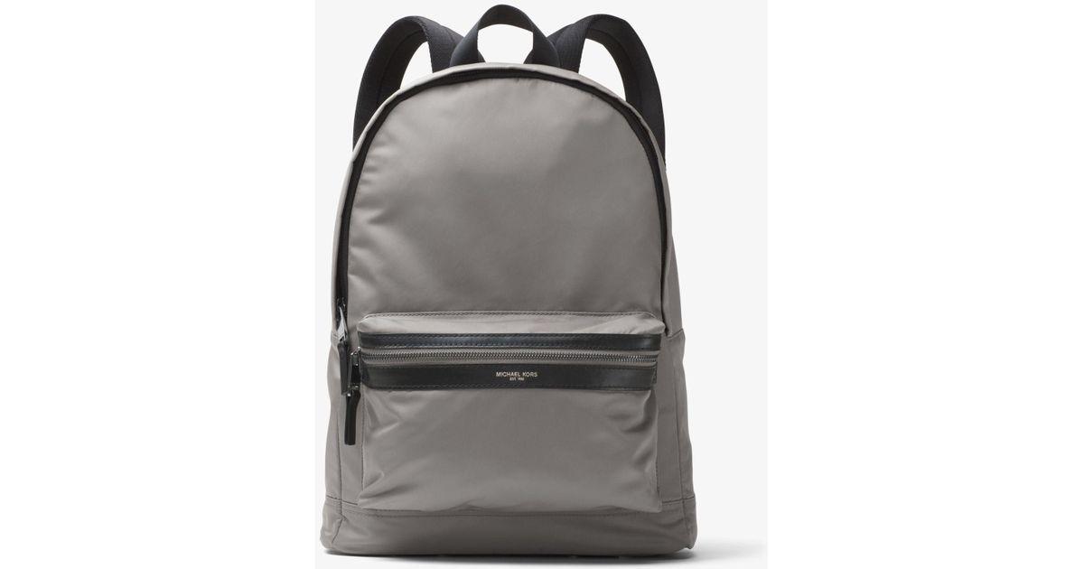 8ed506fe9db2 Lyst - Michael Kors Kent Nylon Backpack in Gray for Men