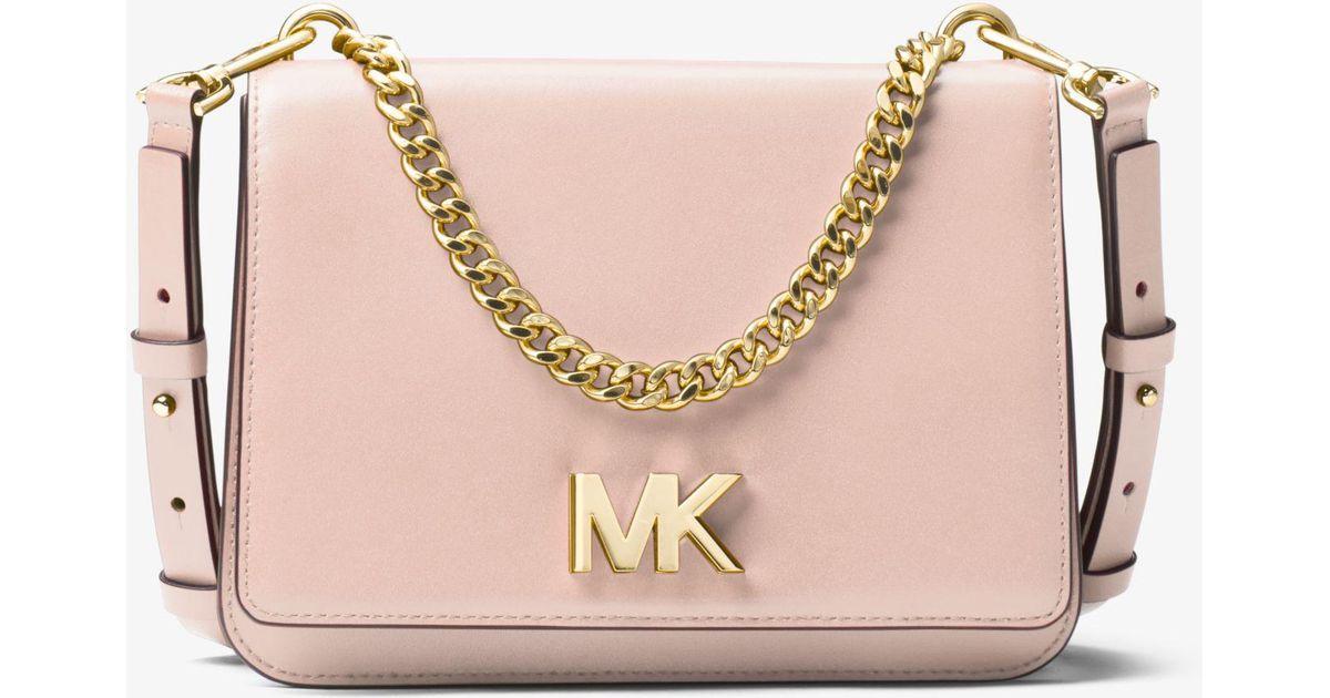 2cdecd87a6f5 MICHAEL Michael Kors Mott Leather Crossbody Bag in Pink - Save 55% - Lyst