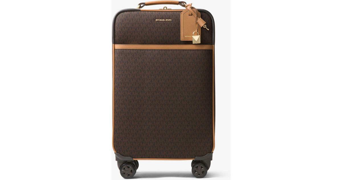 8a6bd832e80e Lyst - Michael Kors Jet Set Travel Logo Suitcase in Brown
