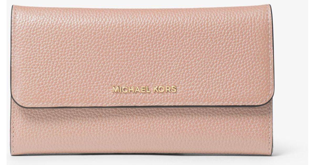 4b96cfa2e284 Michael Kors Brown Trifold Wallet - The Best Wallet Produck