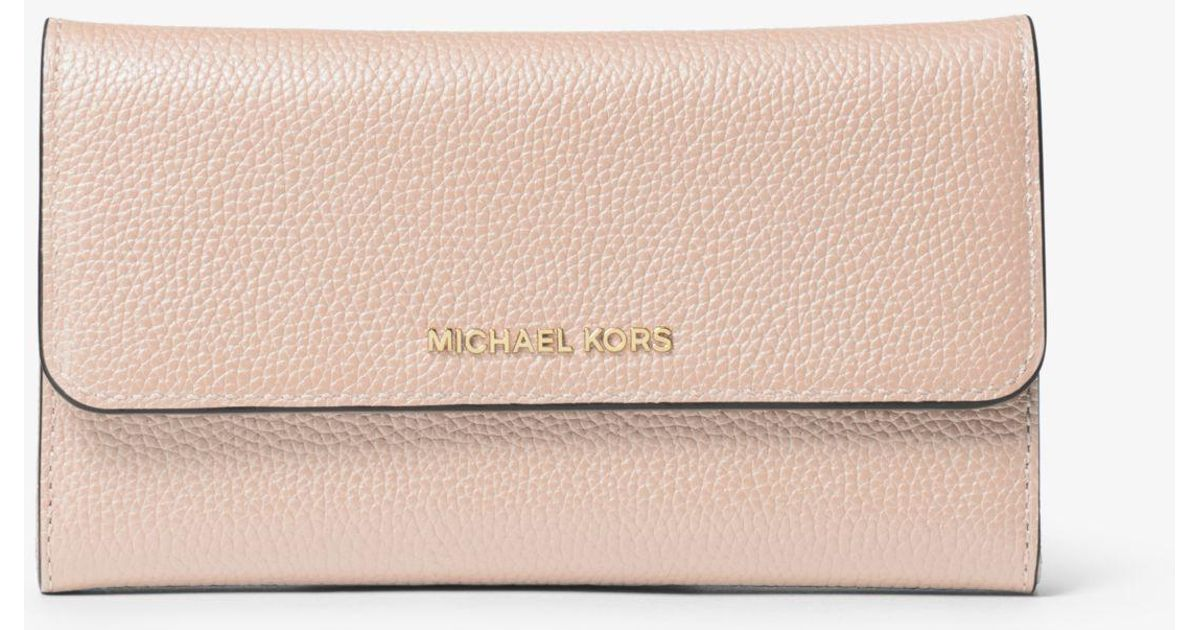 e3e829dc2e1e Michael Kors Tri-fold Leather Wallet in Pink - Lyst