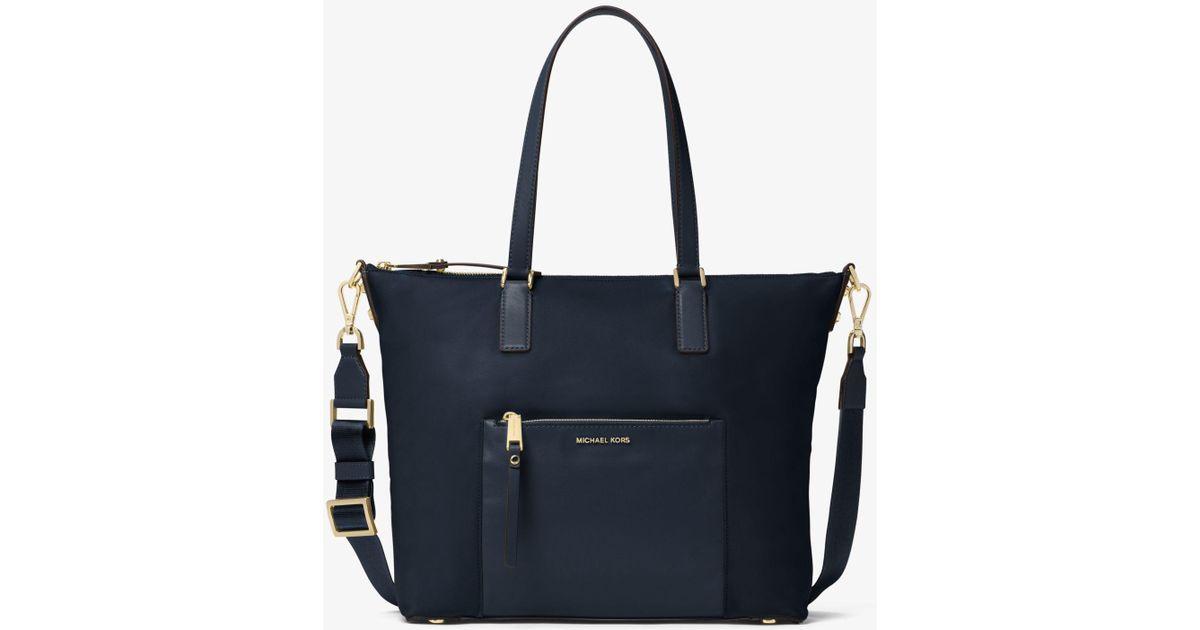 97ab1395d3b8 Michael Kors Ariana Large Nylon Tote Bag in Blue - Lyst