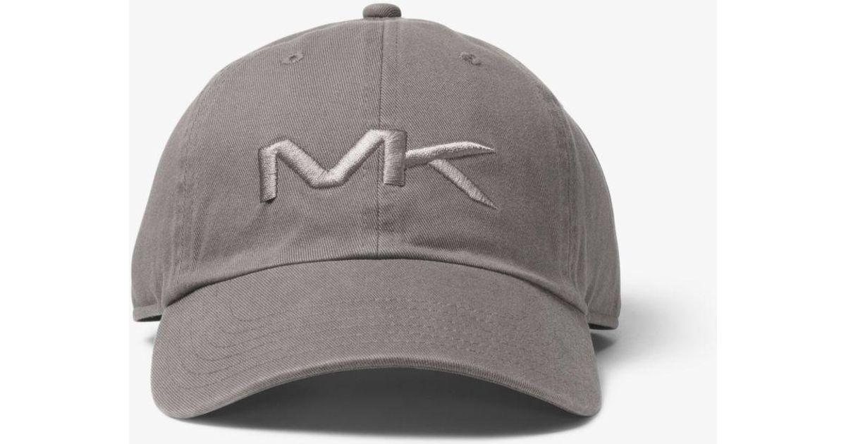 3fd83d40b5d Lyst - Michael Kors Logo Cotton Baseball Hat in Gray for Men